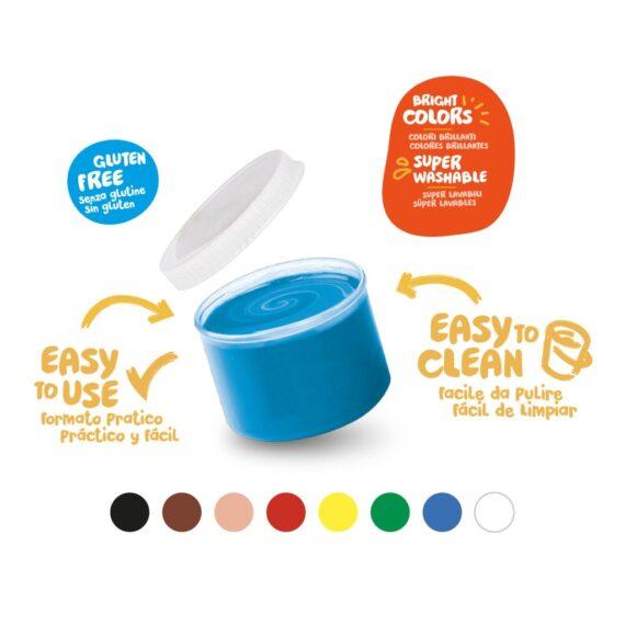 Acuarele Baby Finger Paint 8 x 50 ml, Carioca culori