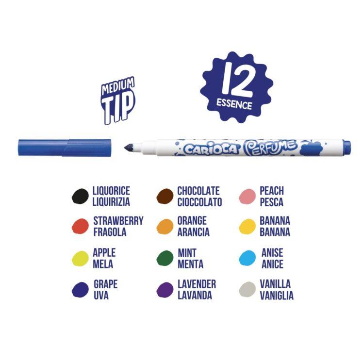 Carioca parfumată 12 culori