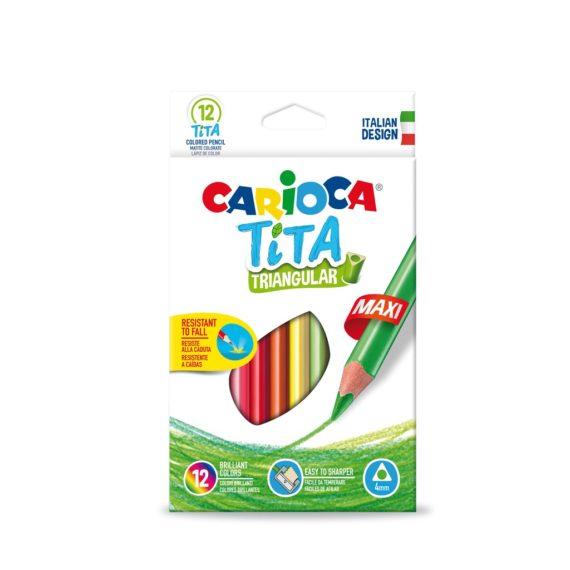 Creioane color triunghiulare Tita Maxi 12/set