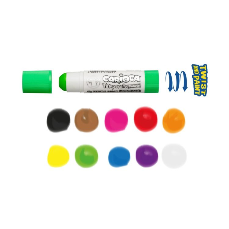 Creion-tempera Temperello Fabric Carioca culori