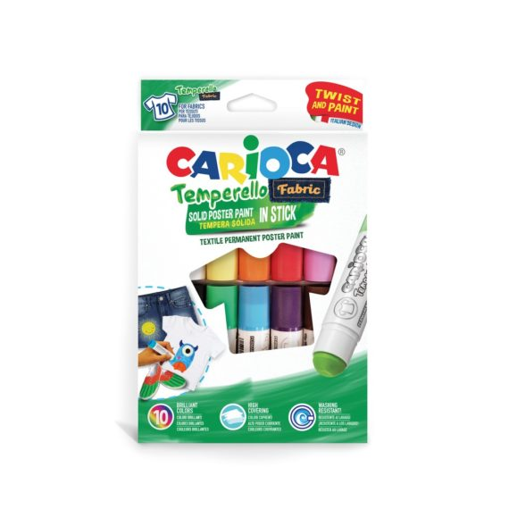 Creion-tempera Temperello Fabric Carioca 10/set