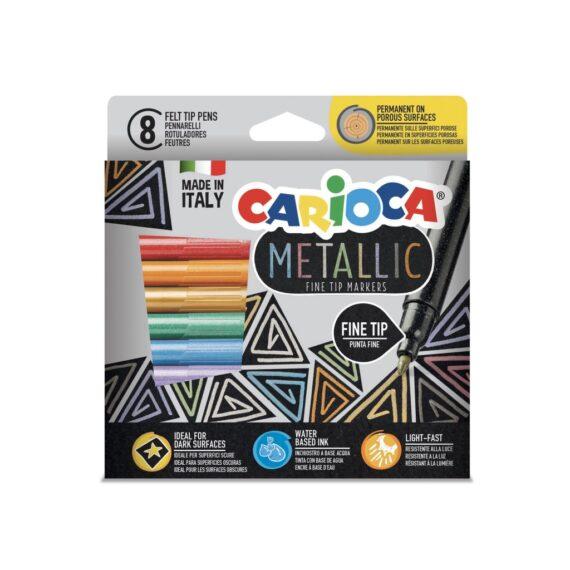 Fineliner Metallic Carioca 8/set