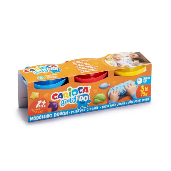 Plastilină Baby Dough Carioca 3×75 g/cutie