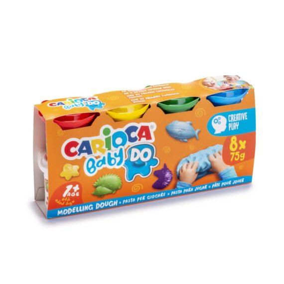 Plastilină Baby Dough Carioca 8×75 g/cutie