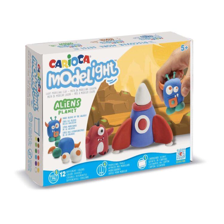 Plastilină ModeLight Maxi PlayBox Carioca Aliens