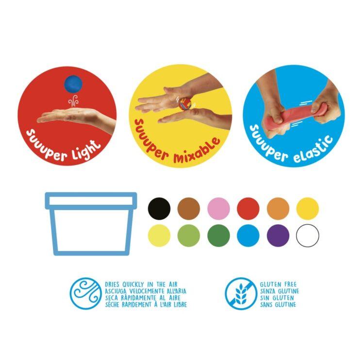 Plastilină ModeLight Maxi PlayBox Carioca culori