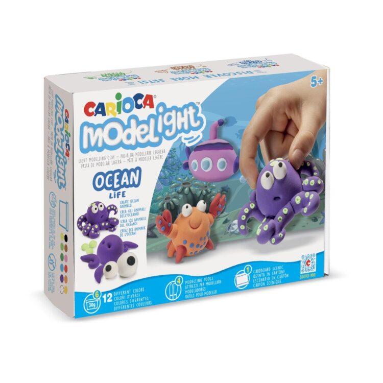 Plastilină ModeLight Maxi PlayBox Carioca Ocean