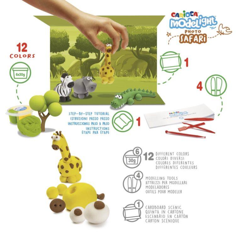 Plastilină ModeLight Maxi PlayBox Safari detalii
