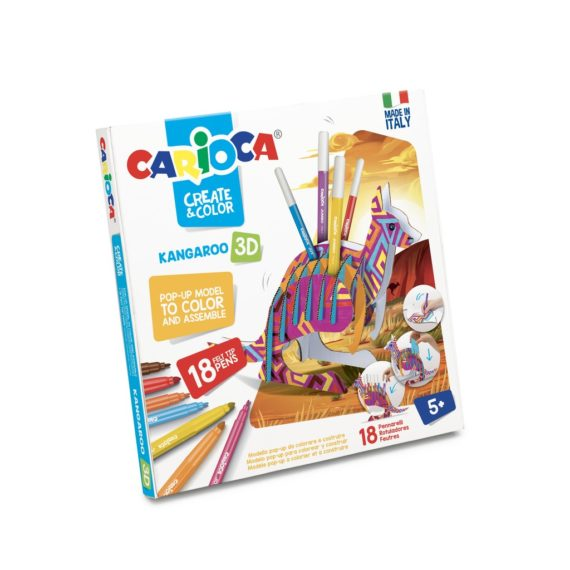 Set creativ Create & Color Carioca Cangur 3D
