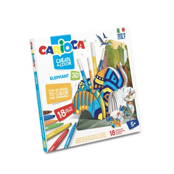 Set creativ Create & Color Carioca Elefant 3D