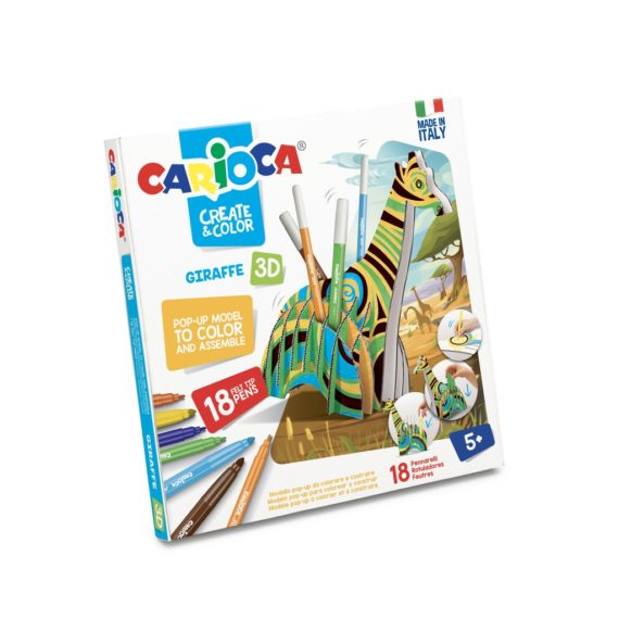 Set creativ Create & Color Carioca Girafa 3D