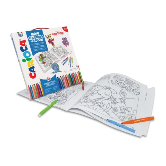 Set creativ Maxi Coloring Album Game Station