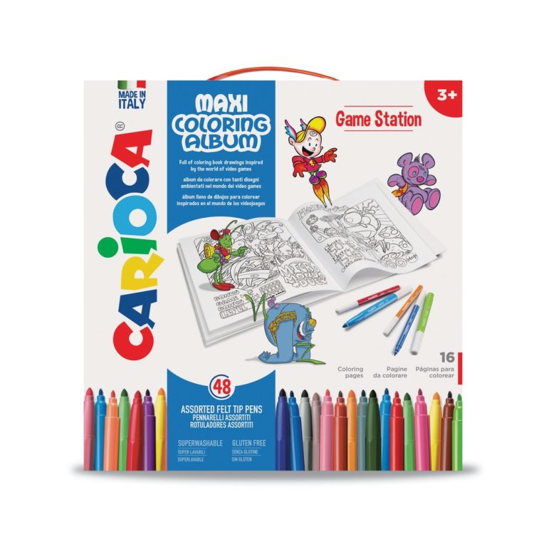 Set creativ Maxi Coloring Album Game Station - Cutie