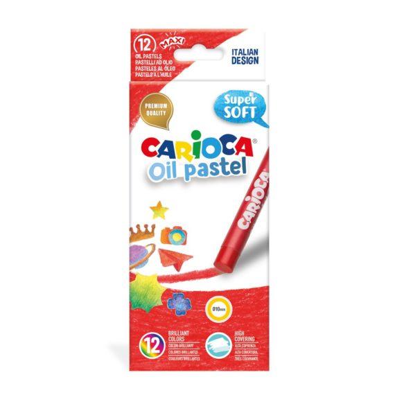 Set creioane cerate Carioca Oil Pastel Maxi, 12 buc./cutie